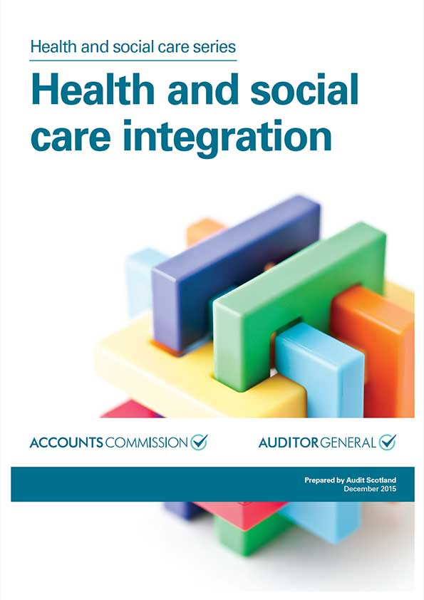 Report cover: Health and social care integration
