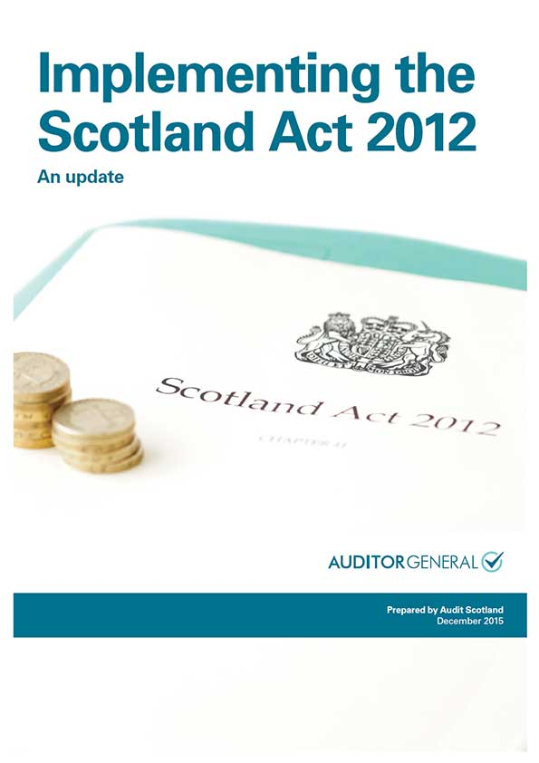 Report cover: Implementing the Scotland Act 2012: an update