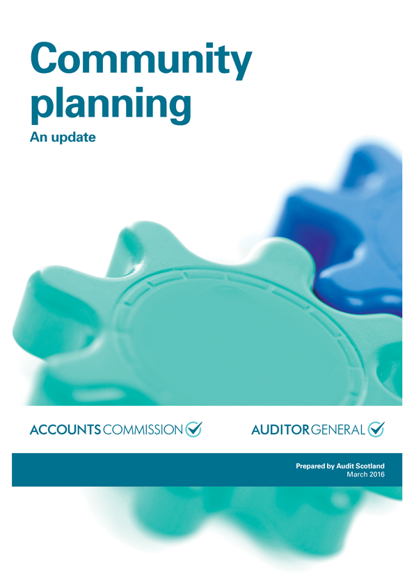 Report cover: Community planning: an update
