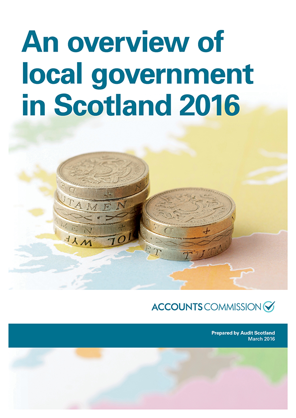 Report cover: An overview of local government in Scotland 2016