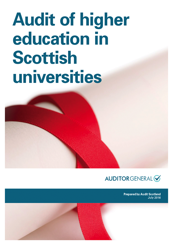 Report cover: Audit of higher education in Scottish universities