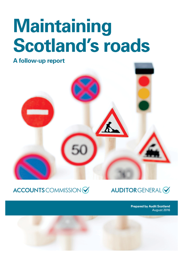 Report cover: Maintaining Scotland's roads: a follow-up report