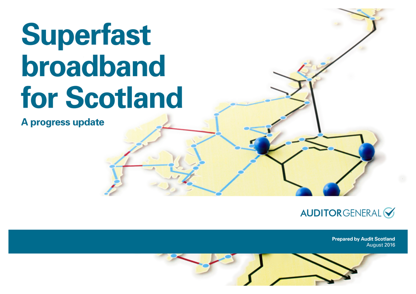 Report cover: Superfast broadband for Scotland: a progress update