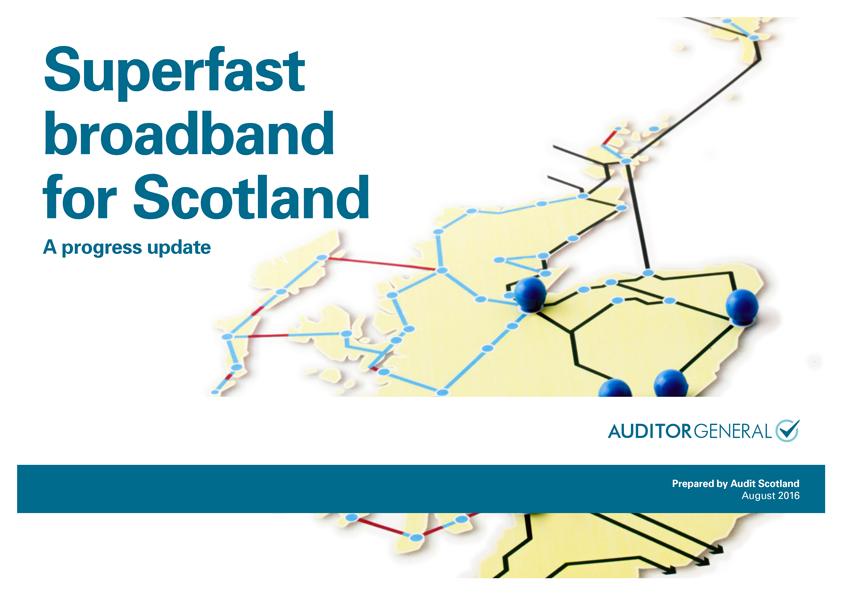 Report cover: Superfast broadband for Scotland: a progress update