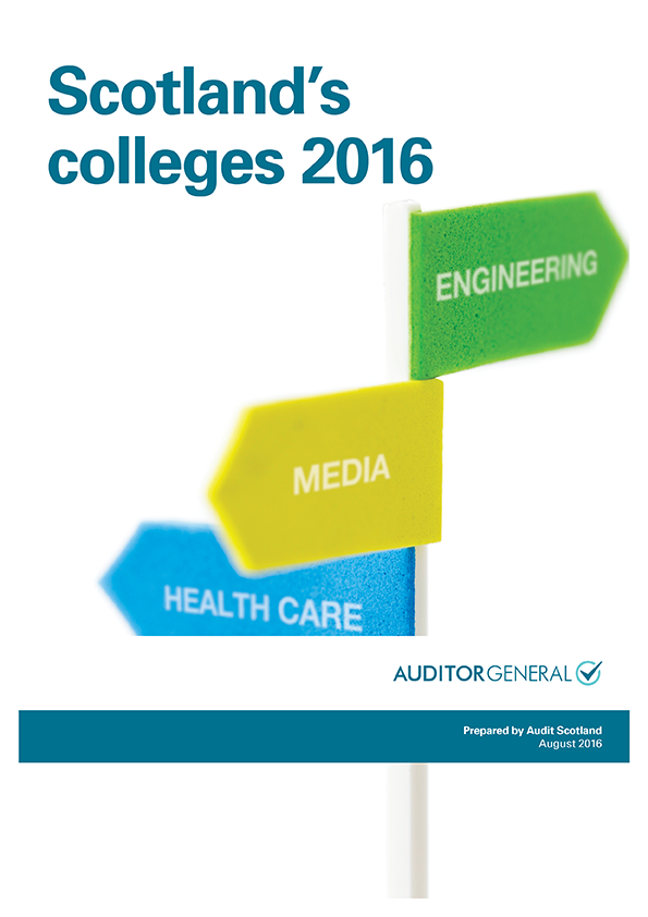 Report cover: Scotland's colleges 2016