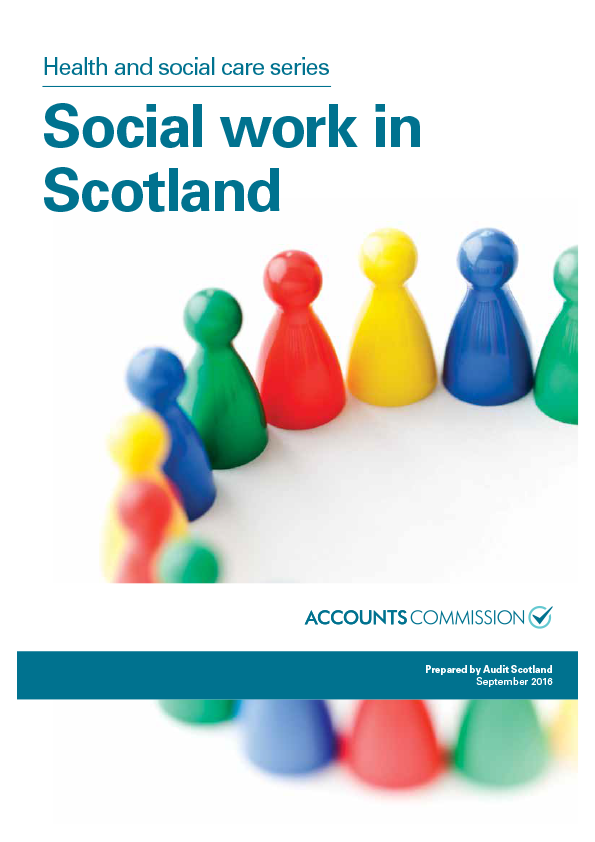 Report cover: Social work in Scotland