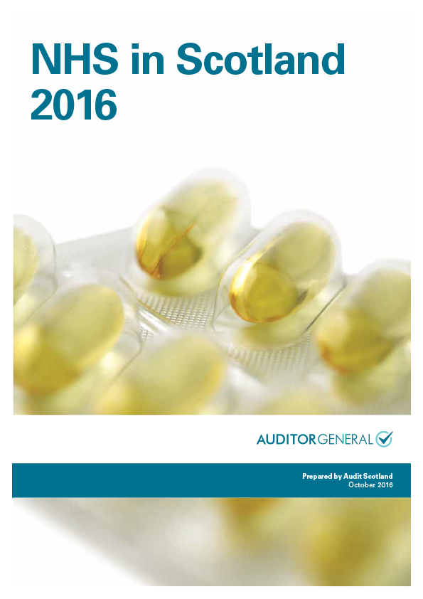 Report cover: NHS in Scotland 2016