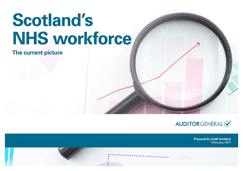 Report cover: Scotland's NHS workforce