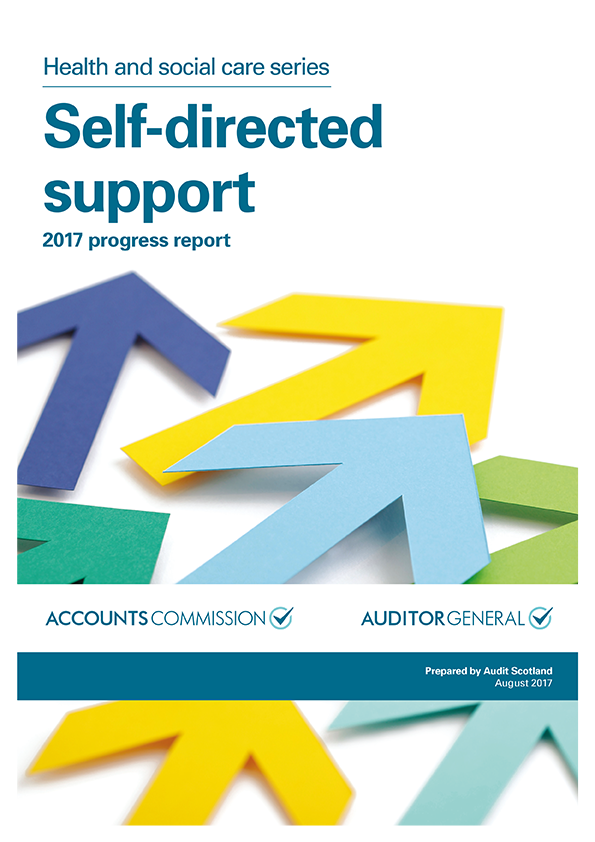 Report cover: Self-directed support: 2017 progress report