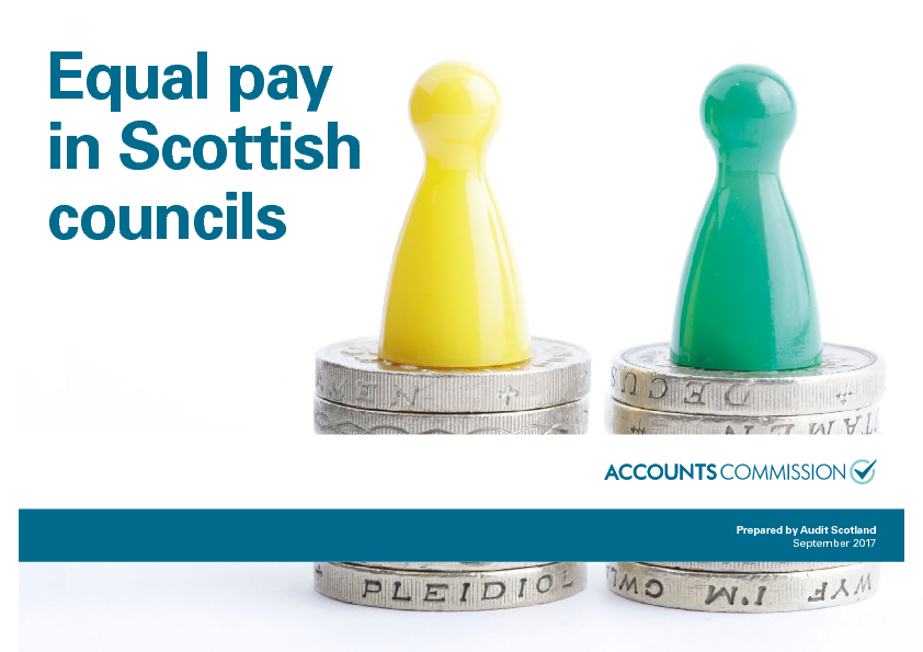 Report cover: Equal pay in Scottish councils