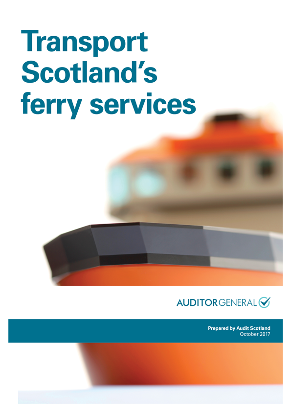 Report cover: Transport Scotland's ferry services