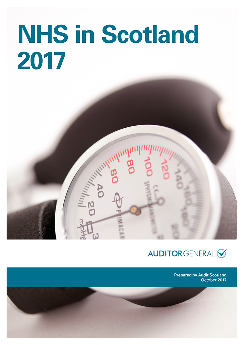 Report cover: NHS in Scotland 2017