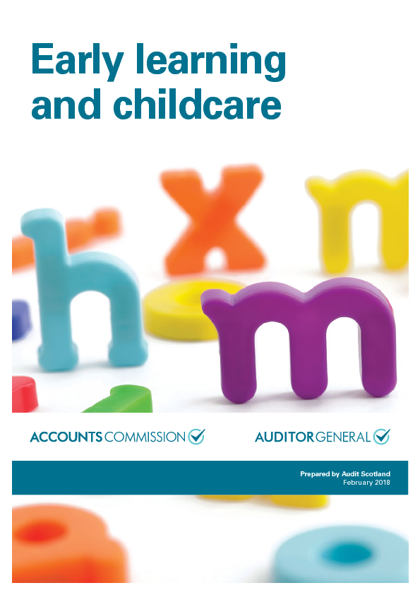 Report cover: Early learning and childcare