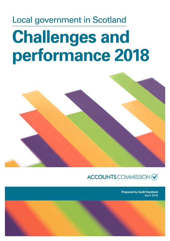 Report cover: Local government in Scotland: Challenges and performance 2018