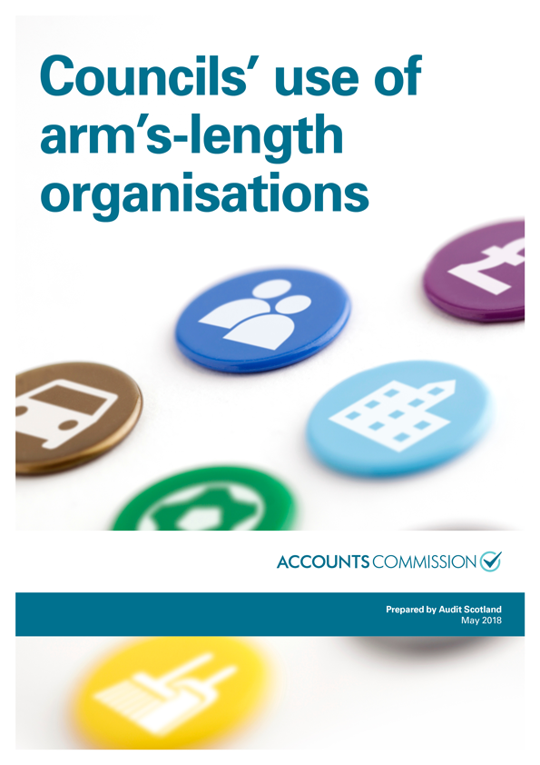 Report cover: Councils' use of arm's-length organisations