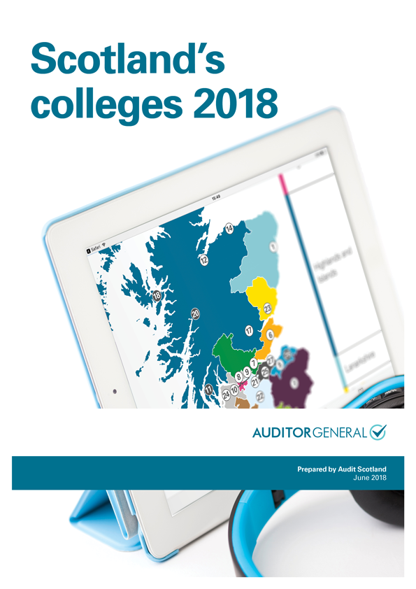 Report cover: Scotland's colleges 2018