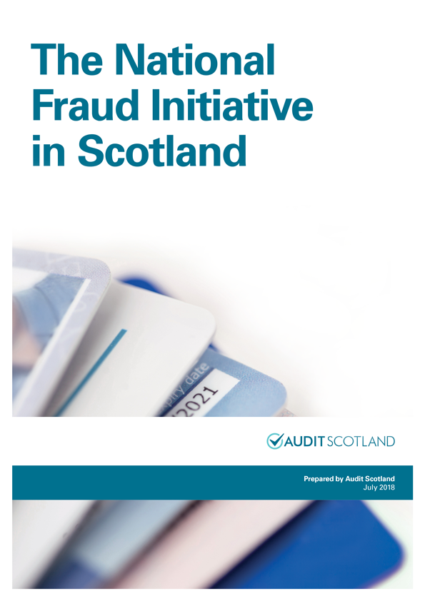Report cover: The National Fraud Initiative in Scotland 2016/17