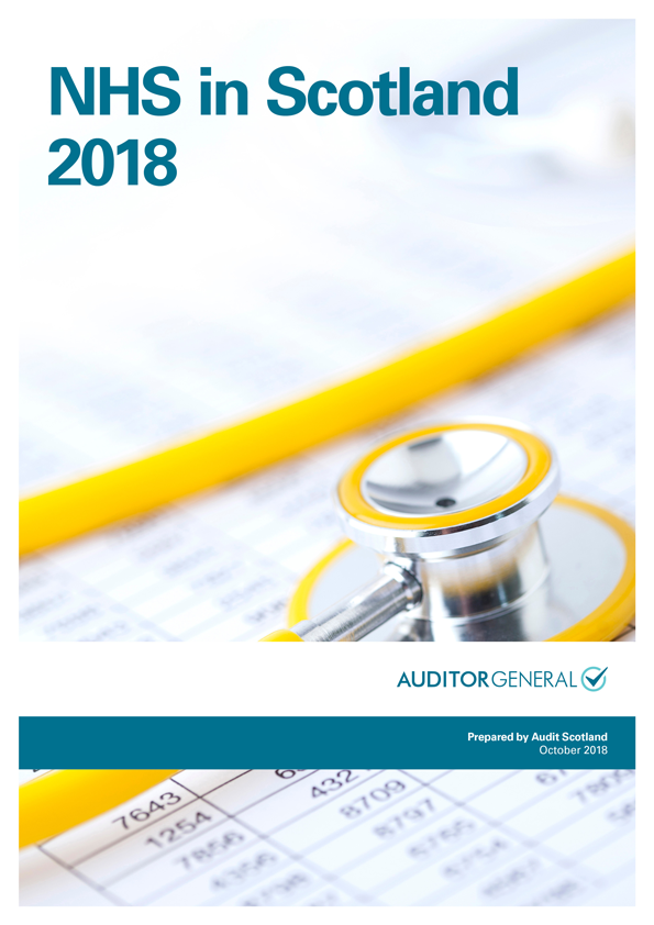 Report cover: NHS in Scotland 2018