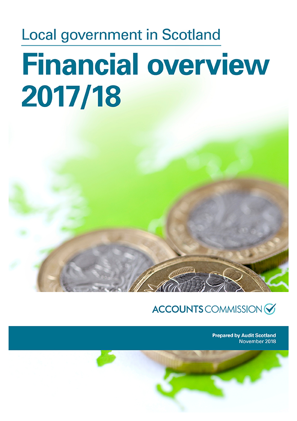 Report cover: Local government in Scotland: Financial overview 2017/18