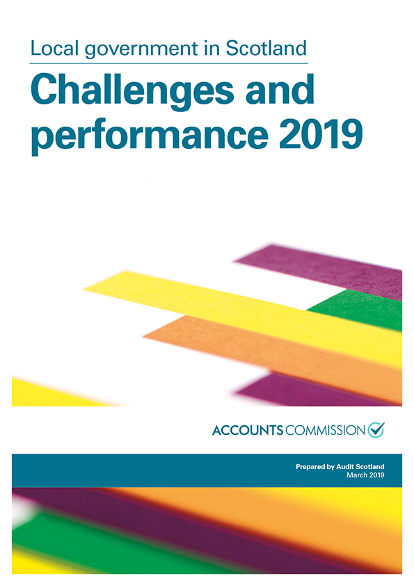 Report cover: Local government in Scotland: Challenges and performance 2019
