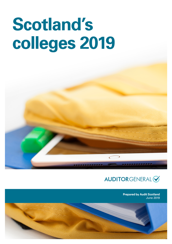 Report cover: Scotland's colleges 2019