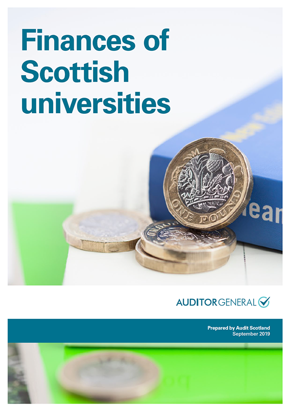 Report cover: Finances of Scottish universities