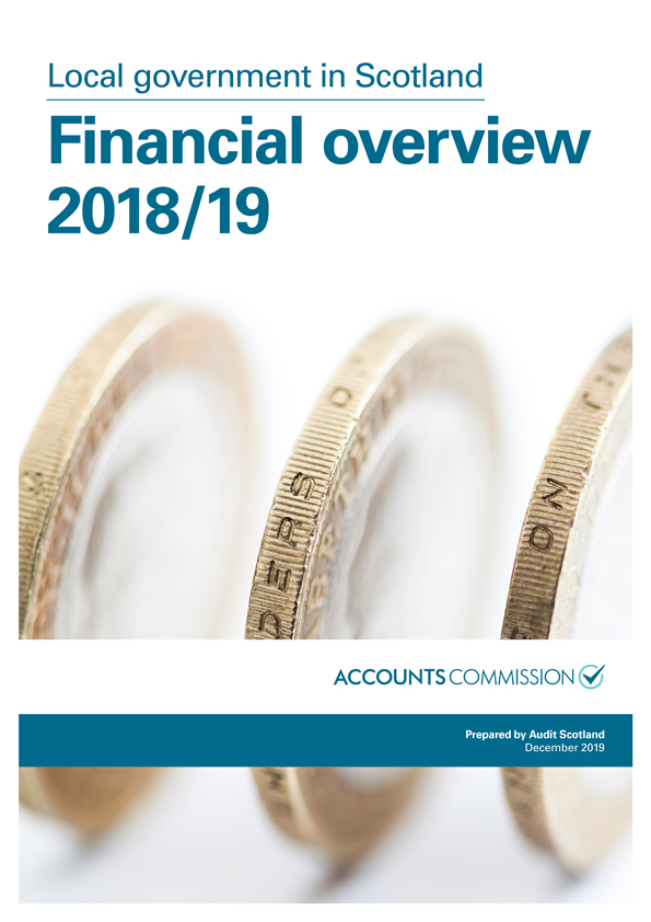 Report cover: Local government in Scotland: Financial overview 2018/19
