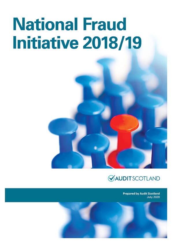 Report cover: The National Fraud Initiative in Scotland 2018/19