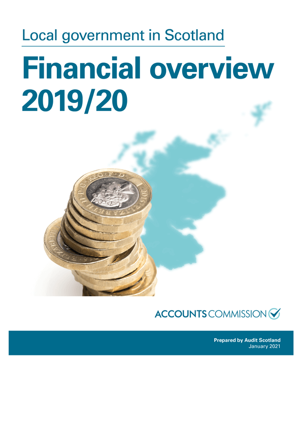 Report cover: Local government in Scotland: Financial overview 2019/20