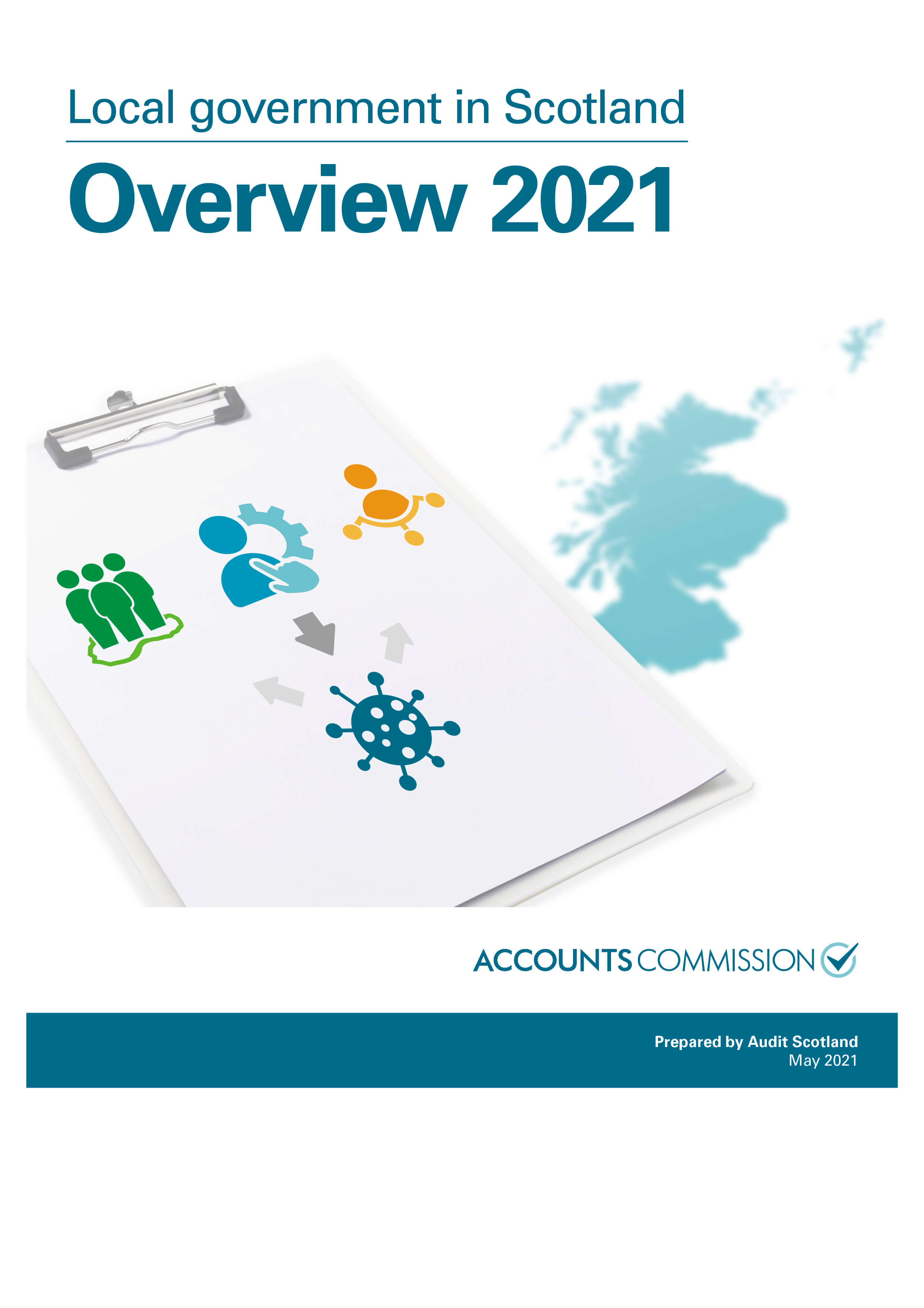 Report cover: Local government in Scotland Overview 2021