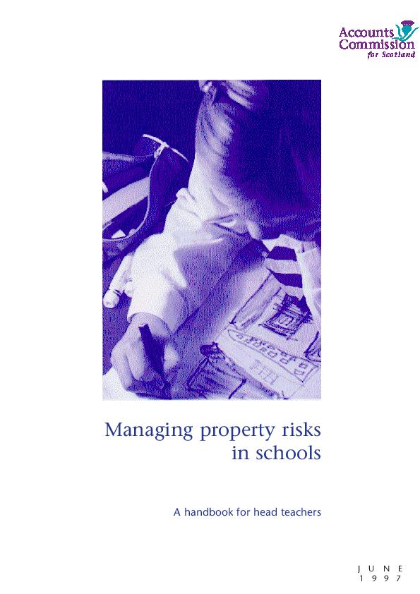 Report cover: Managing property risks in schools - A handbook for Head Teachers