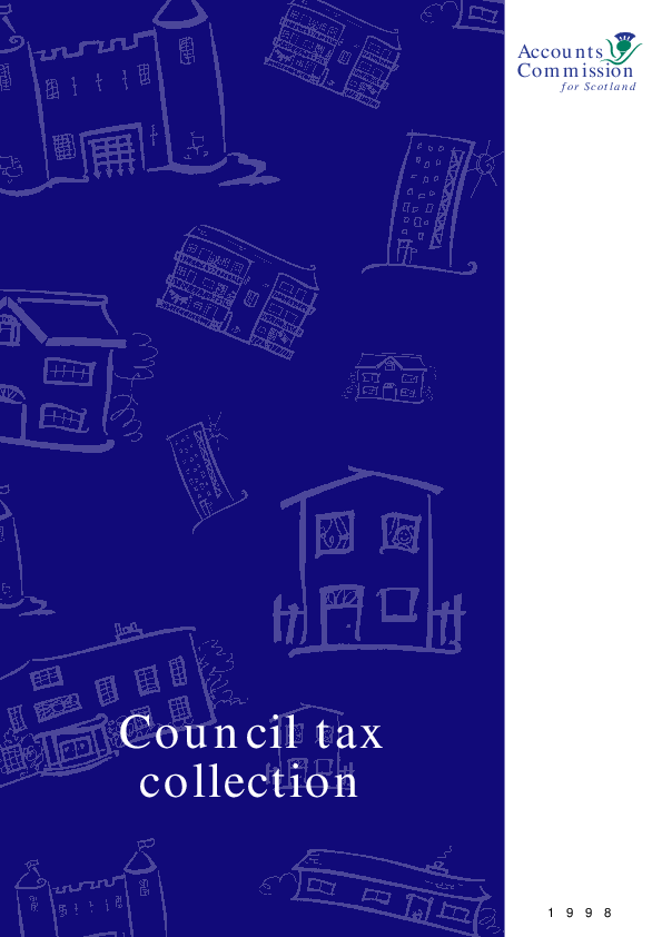 Report cover: Council tax collection