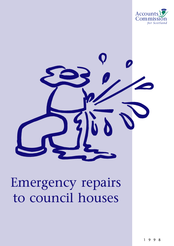 Report cover: Emergency repairs to council houses