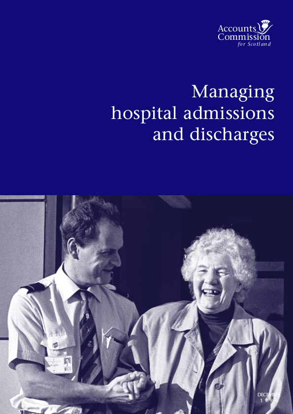 Report cover: Managing hospital admissions and discharges