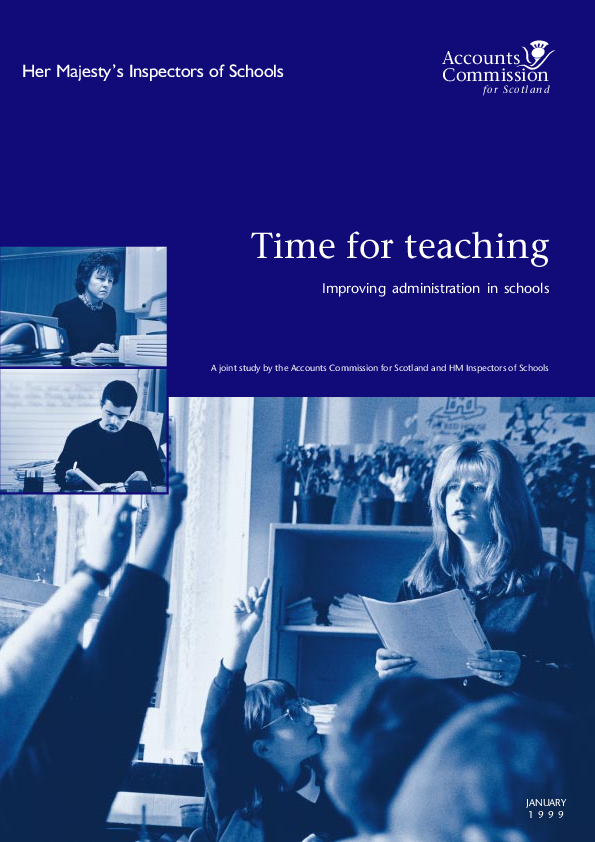 Report cover: Time for teaching - Improving administration in schools