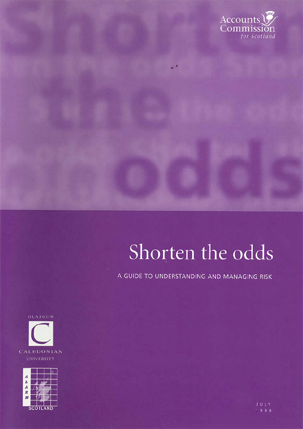 Report cover: Shorten the odds: a guide to understanding and managing risk