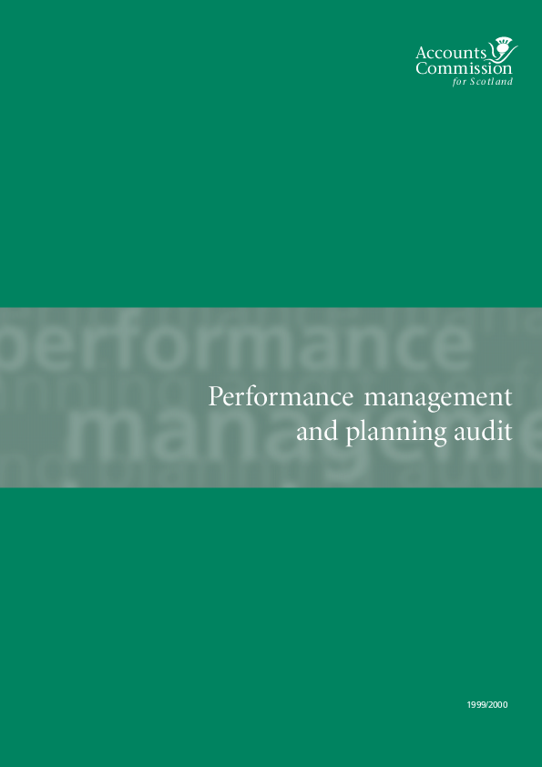 Report cover: Performance management and planning audit: Audit guide