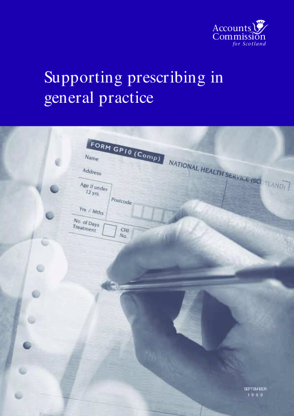 Report cover: Supporting prescribing in general practice