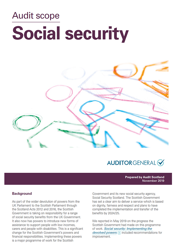 Report cover: Social security
