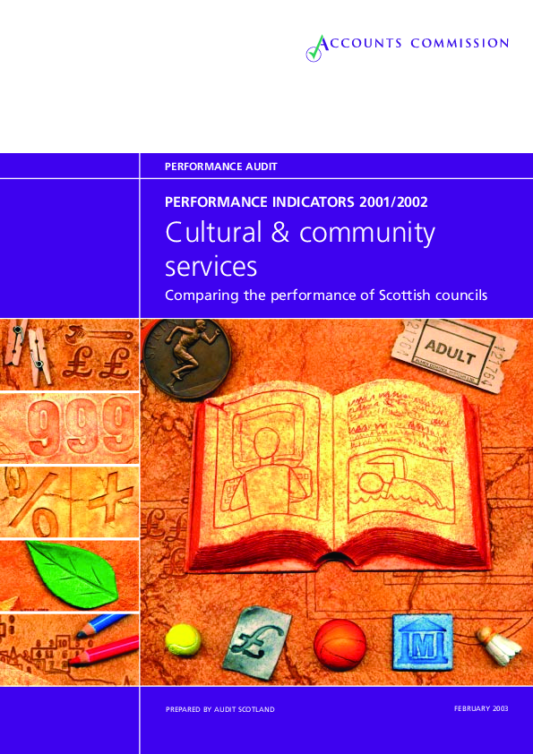 Report cover: Cultural and Community services - performance information 2001/02