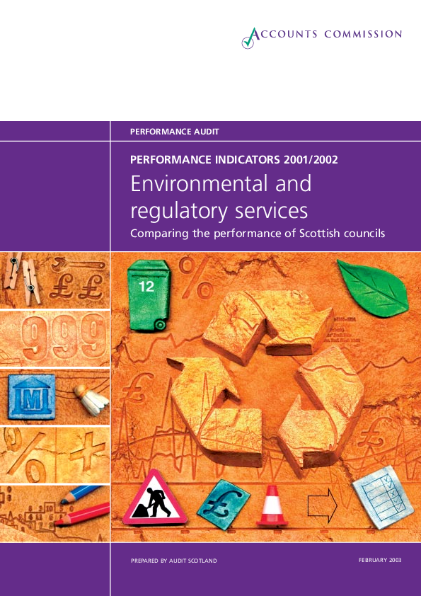 Report cover: Environmental services - performance information 2001/02