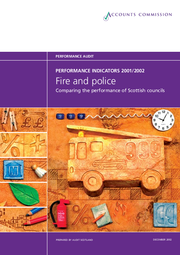 Report cover: Police and Fire - Performance information 2001/02