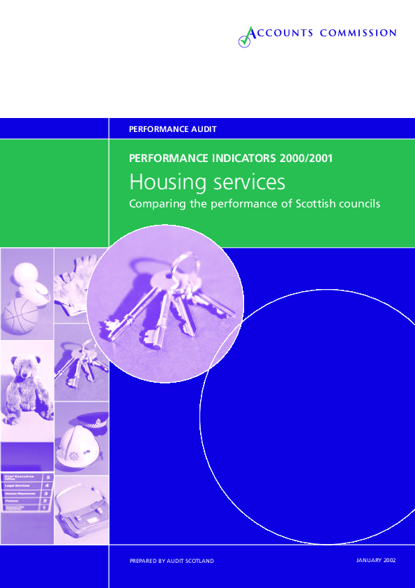 Report cover: Housing services - Performance Indicators 2000-2001