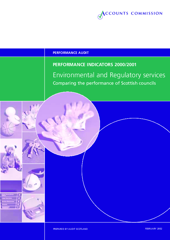 Report cover: Environmental and Regulatory - Performance Indicators 2000-2001