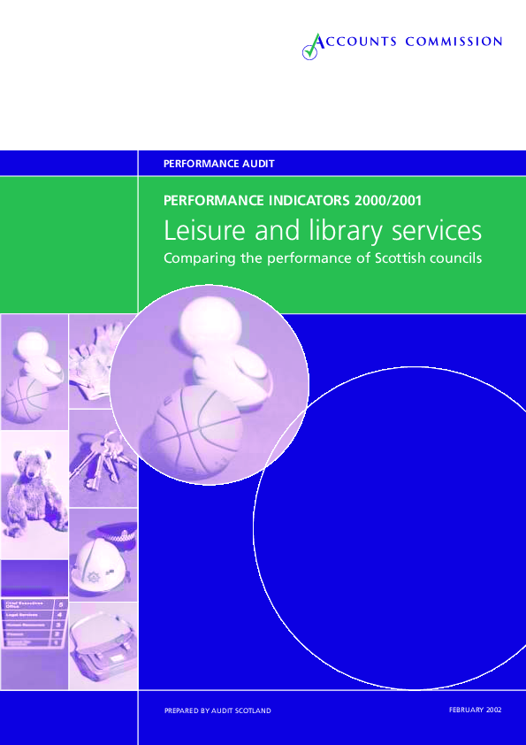 Report cover: Leisure and Libraries - Performance Indicators 2000-2001