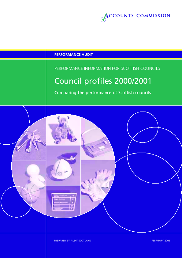 Report cover: Council profiles 2000/2001: Performance information for Scottish Councils