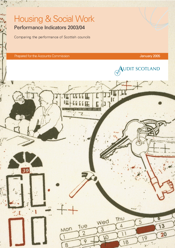 Report cover: Housing and Social Work: Performance Indicators 2003/04