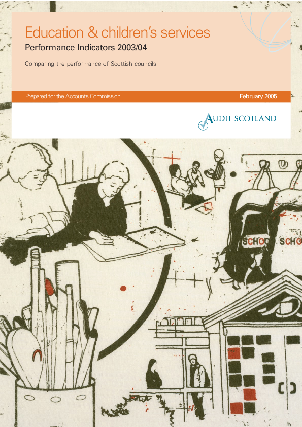 Report cover: Education and children's services: Performance Indicators 2003/04