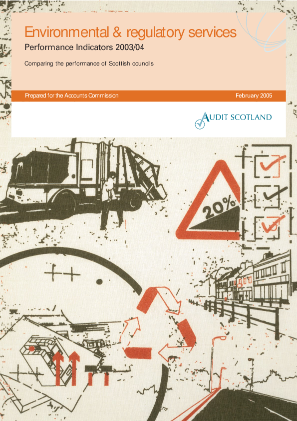 Report cover: Environmental and regulatory services: Performance Indicators 2003/04