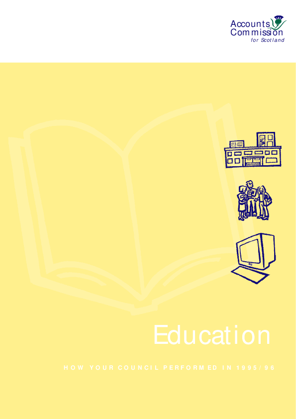 Report cover: Education - How your service performed in 1995/96